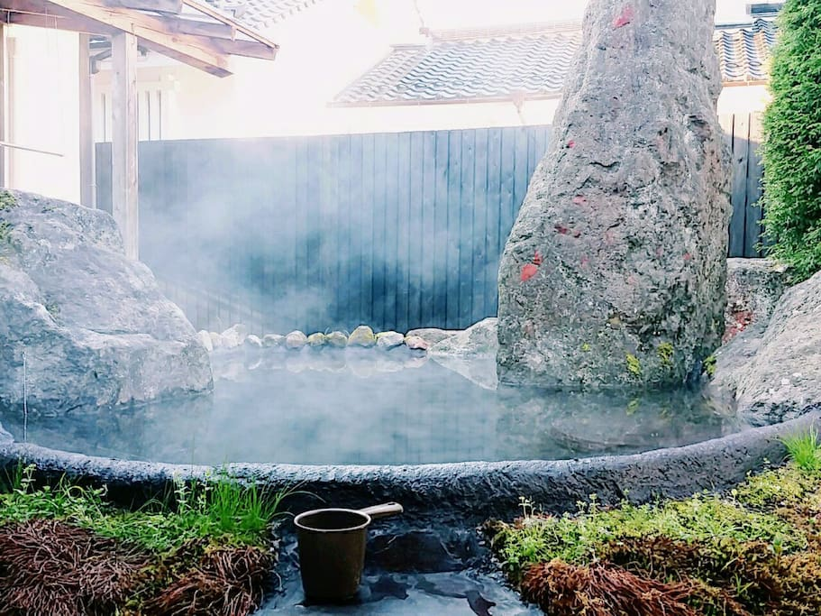 FREE Outside  10 people entrance open-air bath hot spring