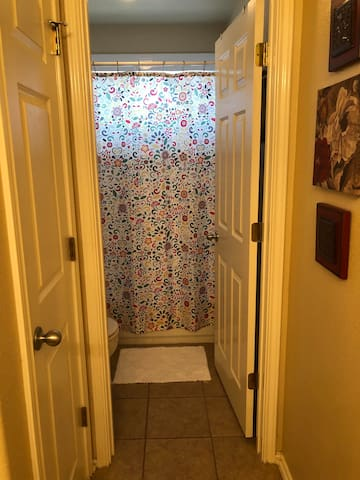 Separate door for the toilet and shower