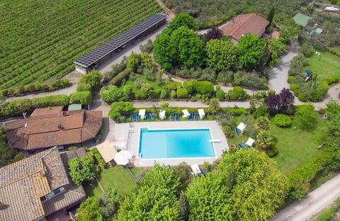 Leilighet Villa Chianti Pool WiFi Air Cond. (A)