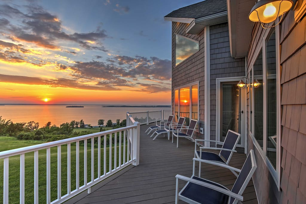 The sunsets at this home will take your breath away.