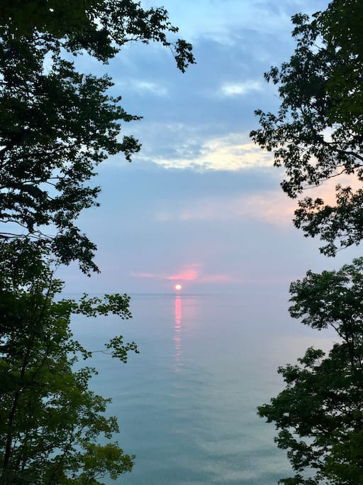 Sunset on Lake Michigan.