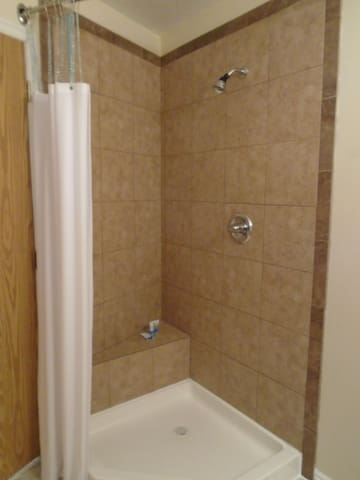 Custom shower with built in seat