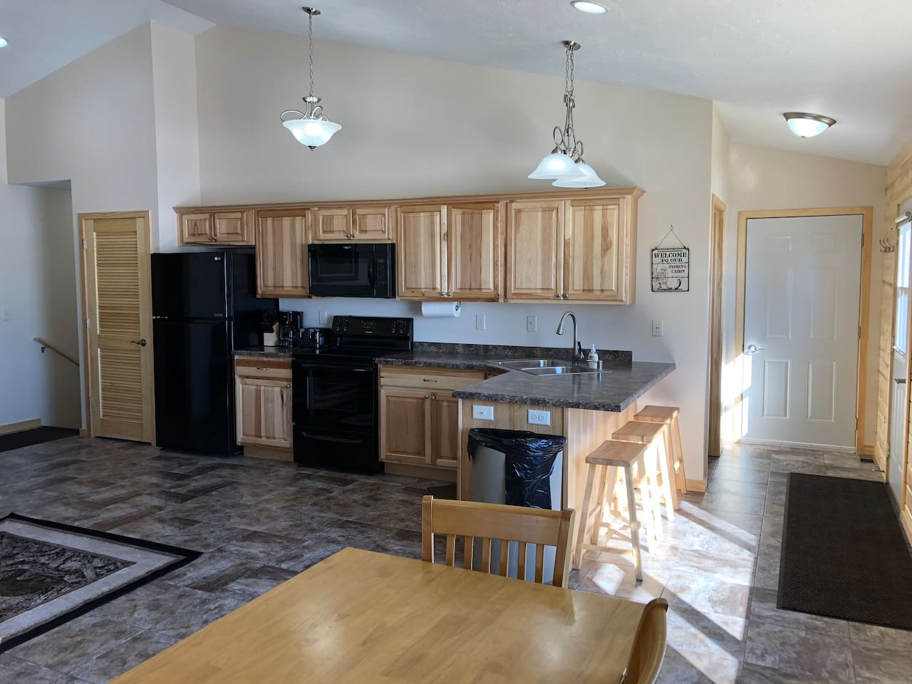 Kitchen & Adjoining door to cabin 13