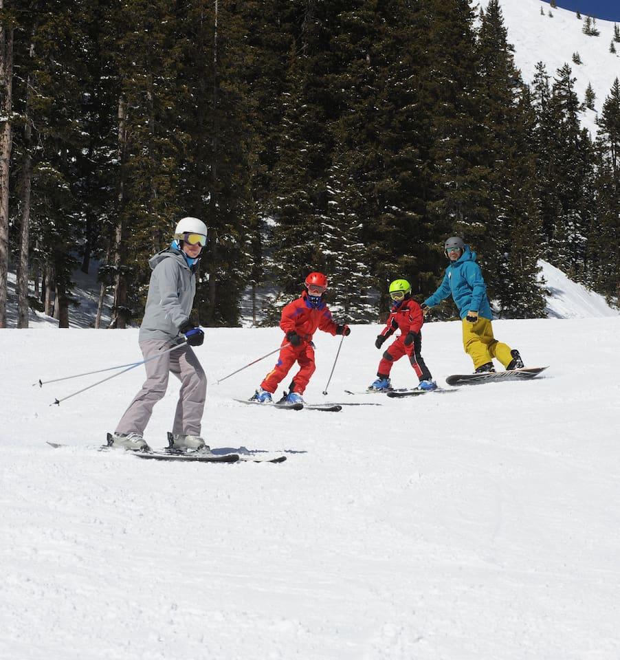 World class skiing and snowboarding at Taos Ski Valley.