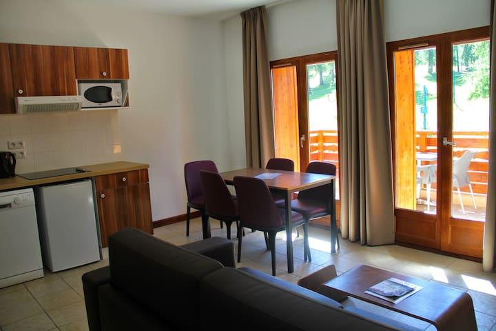 Logement 2 chambres au pied des pistes de Valberg