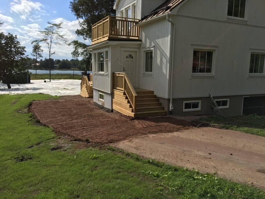Husets framsida (under renovering)
