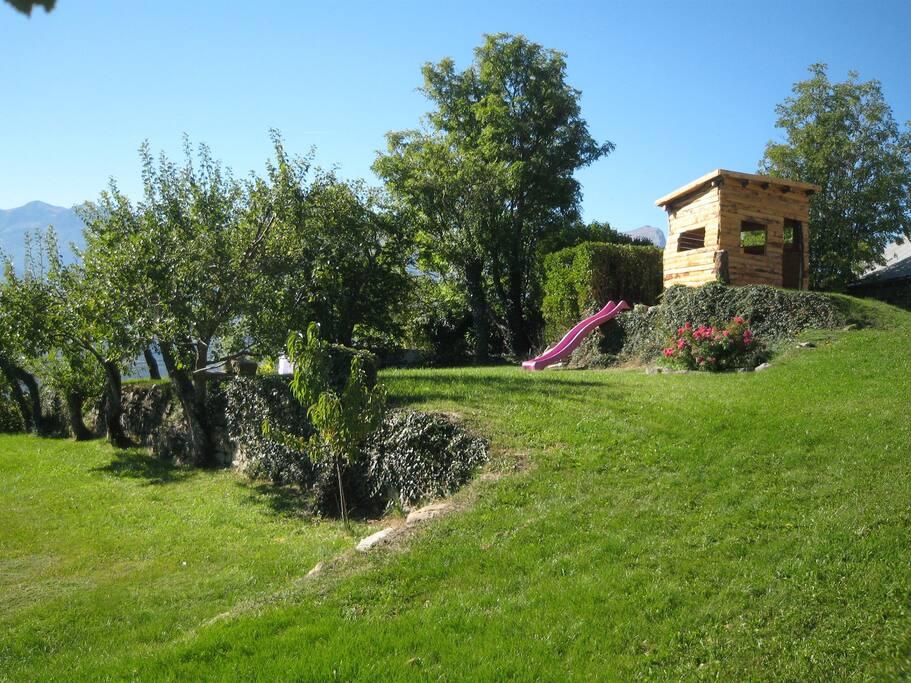 vue partie du jardin