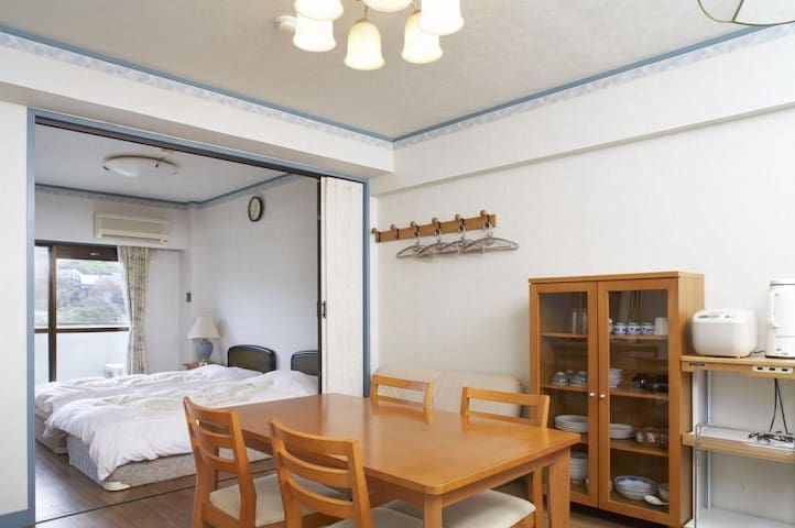 Condominium with chartered hot springs♪伊東温泉,4階2LDK(和洋室)【From 4 pax】