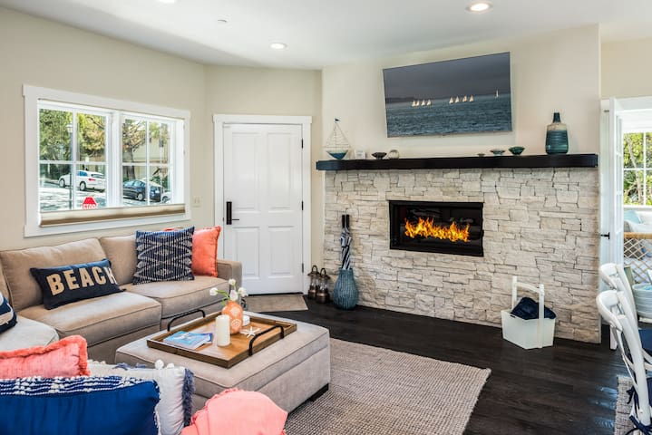 Gas fireplace for cozy nights.