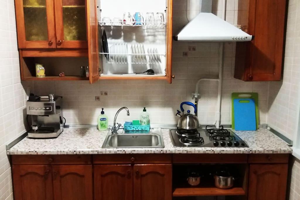 Кухня. Есть все необходимое для приготовления пищи.