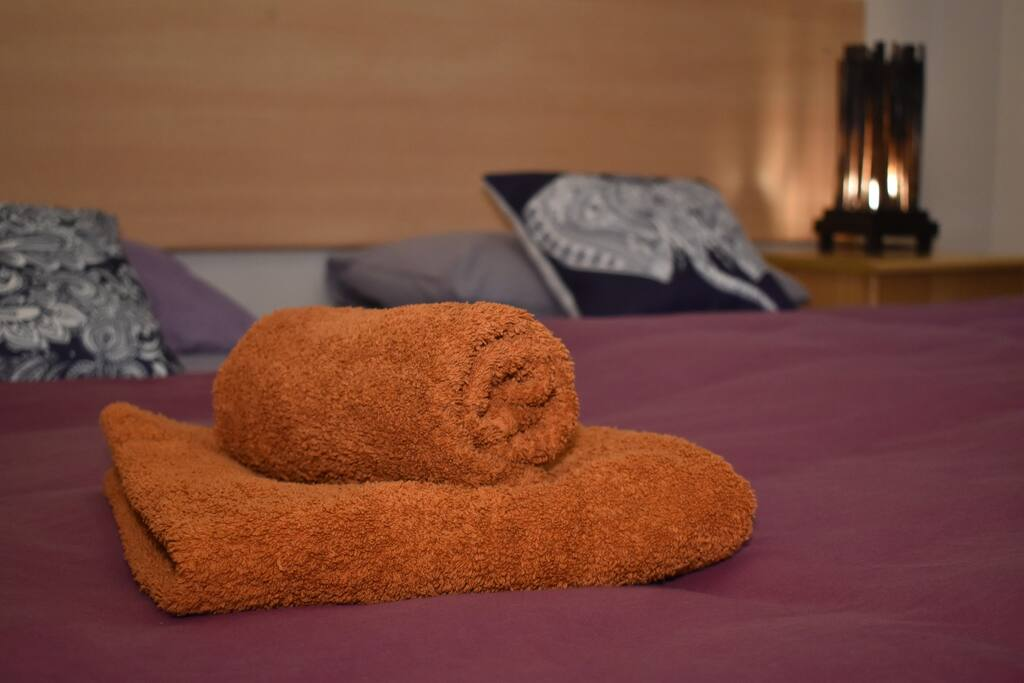 We provide 2 sleeping pillows each person and 1 big & 1 small luxury towels to each person !