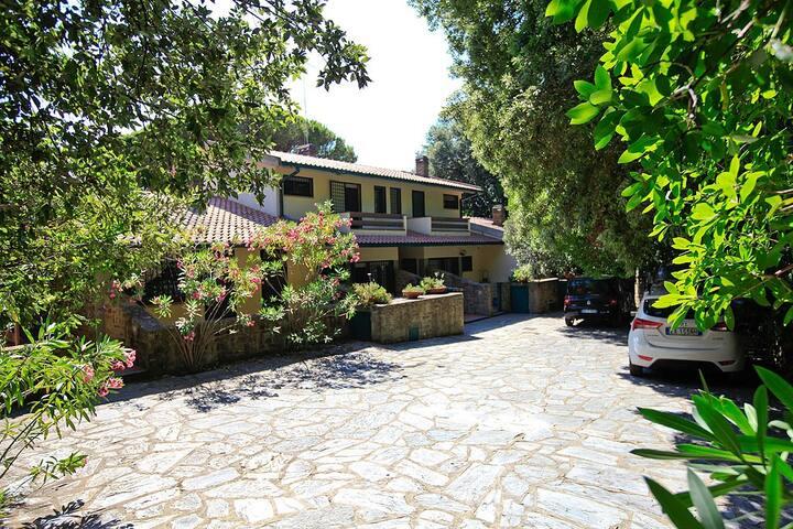Villa con giardino nel verde di Punta Ala