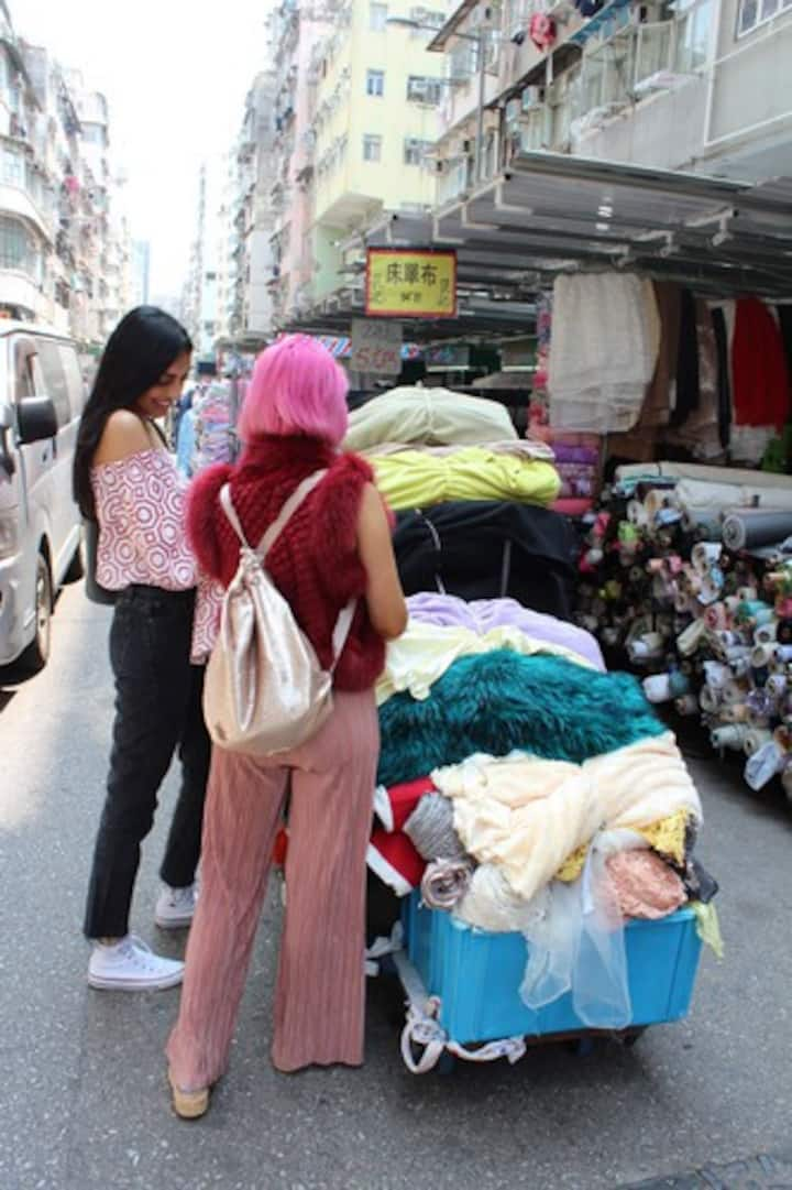 She'll take you to local fabric markets