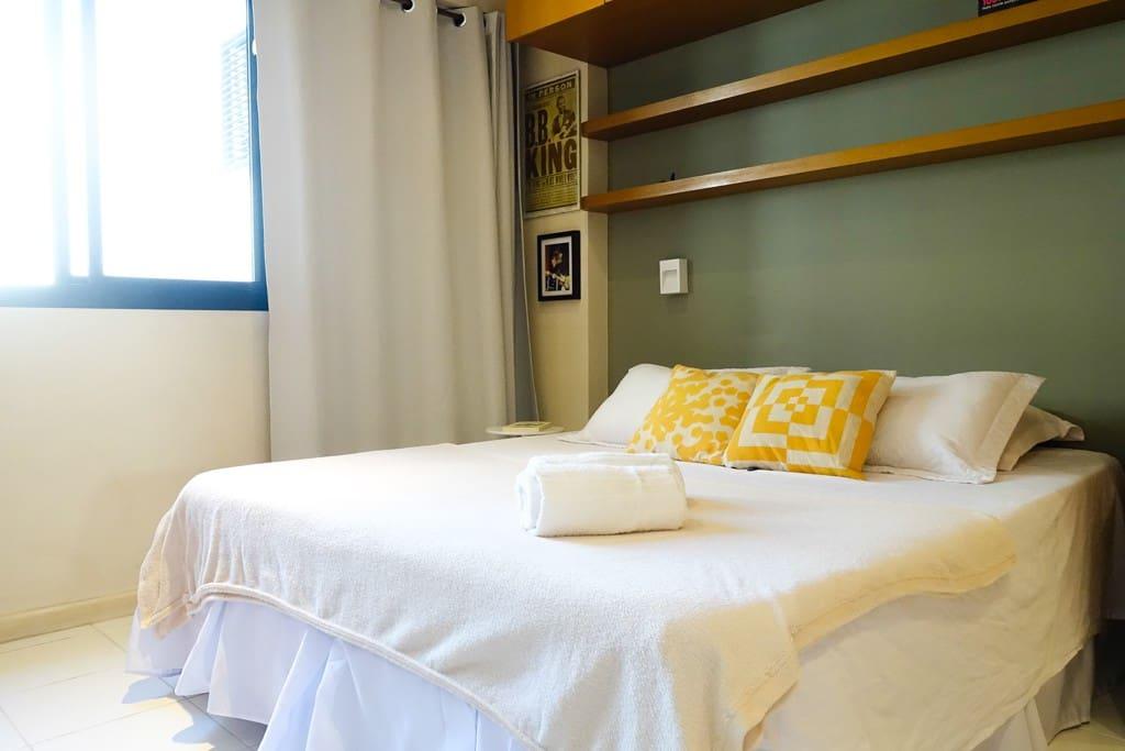 Quarto com cama de casal / Option of one double bed