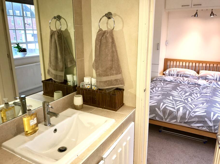 Your bedroom with private bathroom