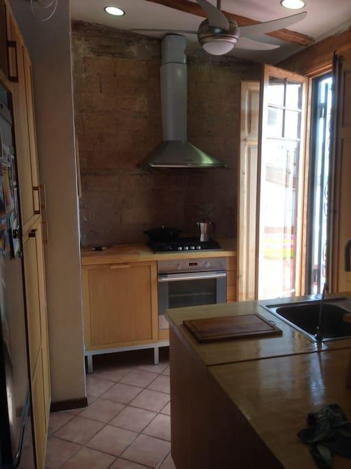 Modern, open kitchen