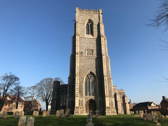 St Marys Church in the nearby village of Worstead