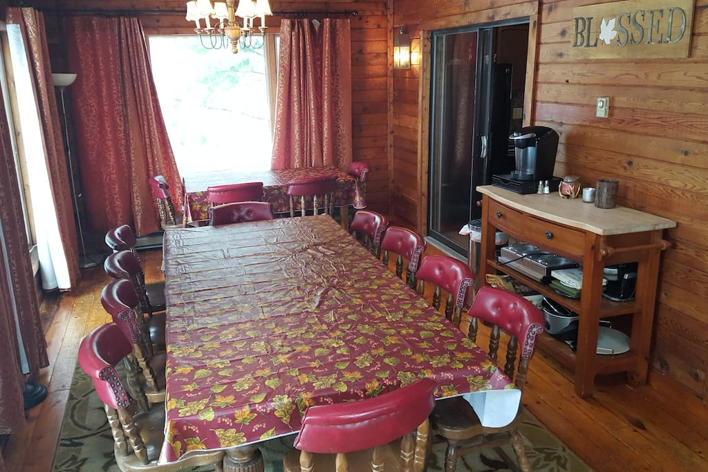 Cabin style dining room