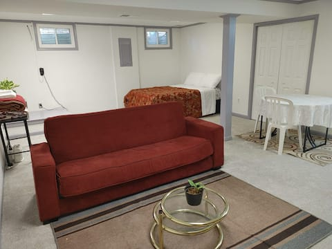 Quiet and Spacious Basement for your stay.