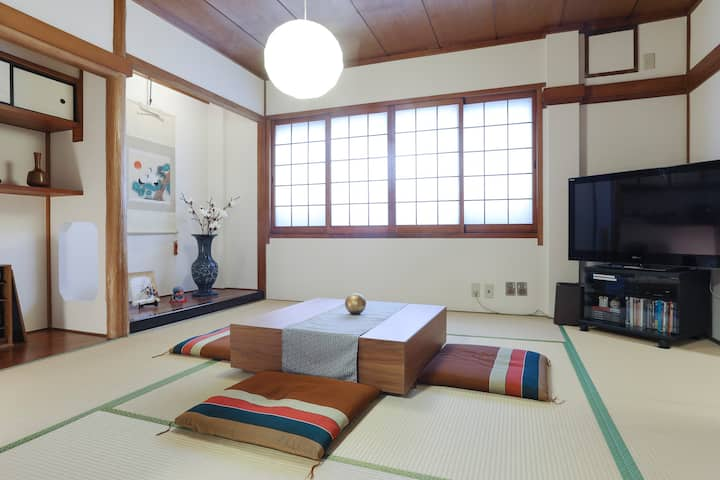 2mins walk Chushojima station/free portable Wifi