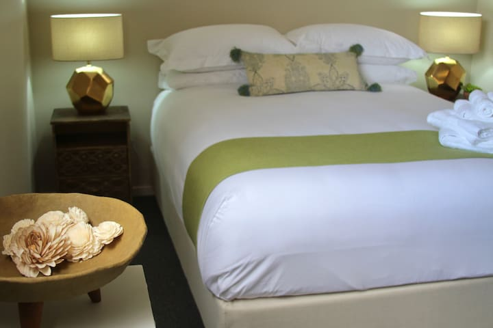 So many of our guests sleep in because the bed is sooooooo comfortable...not a detail left over looked