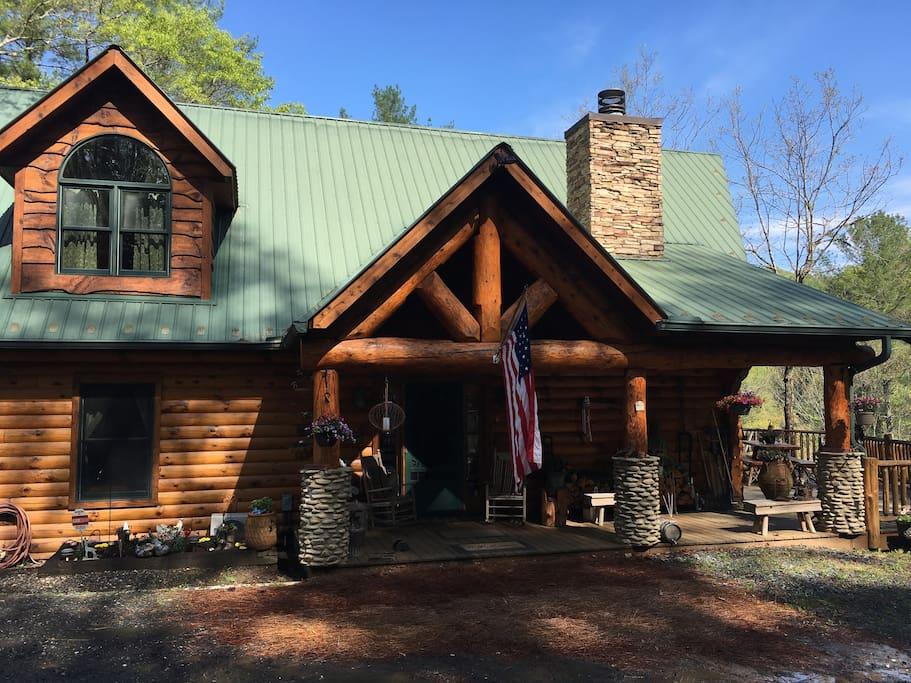 Authentic Post & Beam Log Cabin