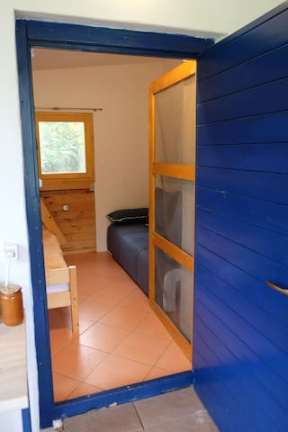 Separate smaller room with a bunk bed and pull out zofa. Entrance from the terrace.
