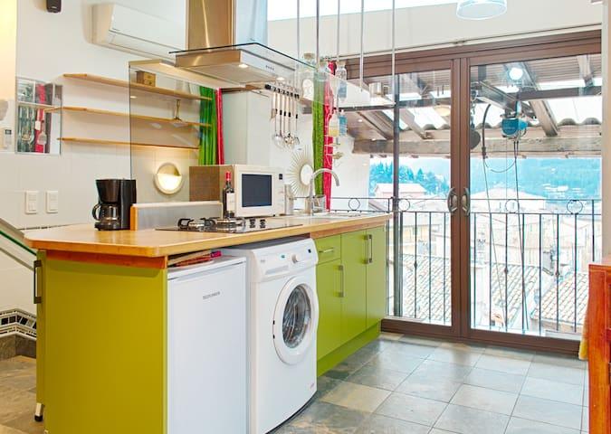 Studio avec vue panoramique - Wifi - Climatisation