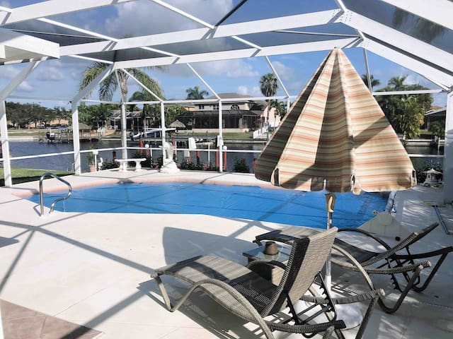 Southwest FL Getaway on Canal w/ Private Pool!