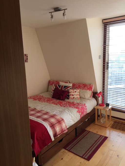 Main bedroom. Immediate access onto terrace. Great for spring/summer relaxing!