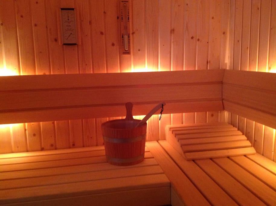 De sauna voor 2 personen