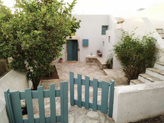 Traditional village house with sea view