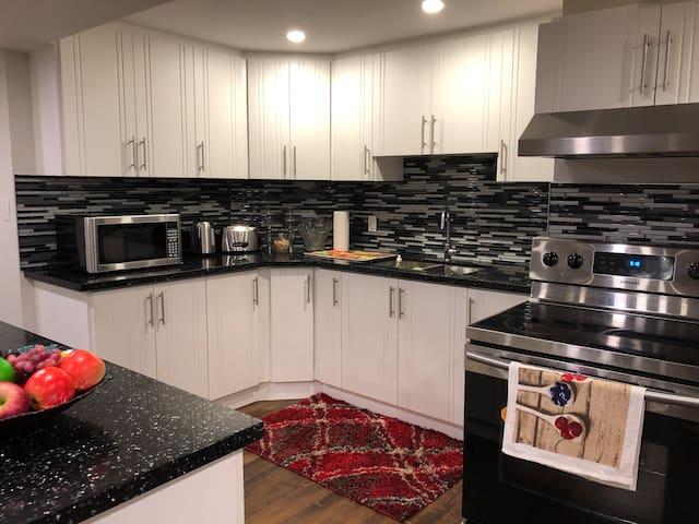 2 bedroom + Large living room & full kitchen