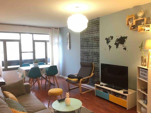 Bel Appartement à 15kms de Paris, résidence calme!