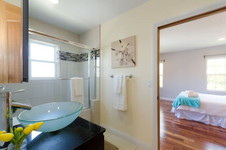 Bathroom #1  (Shared, second floor)