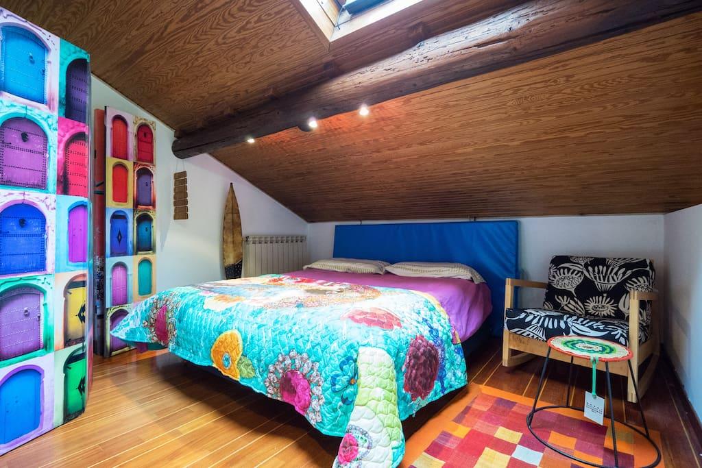 Il vostro spazio-letto per due persone in zona notte al piano superiore