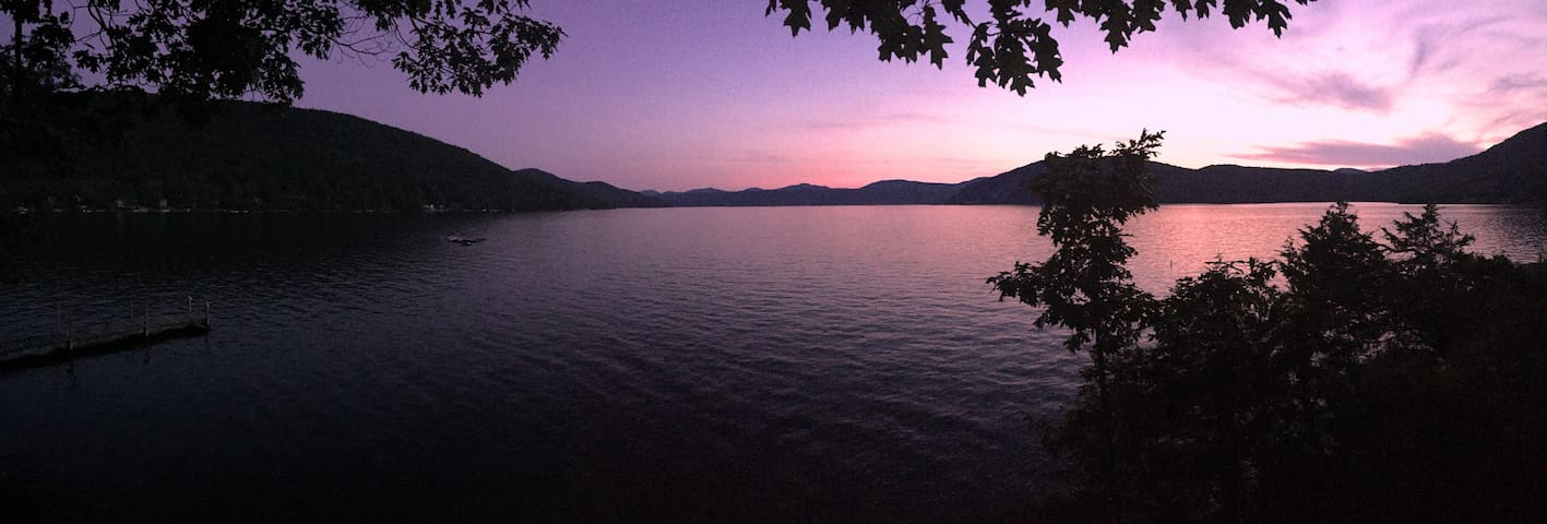 Lake George Waterfront Home with Amazing Sunsets!