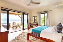 Bedroom 5: Below pool cabana with its own private balcony directly overlooking the marine sanctuary