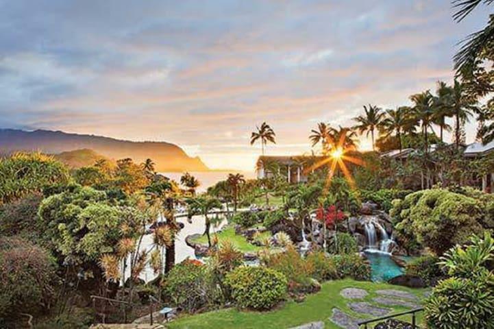 Beautiful Hanalei Bay Resort 7 nights in July.