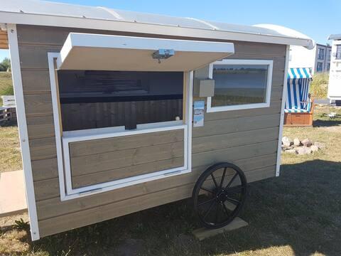 Sleepy Strandschäferwagen am Tönninger Strand
