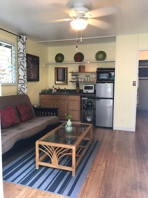 Main living area with a kitchenette