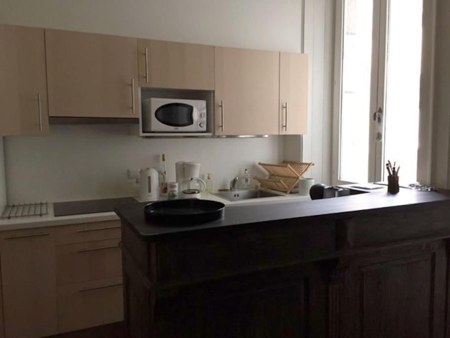 Espace cuisine, salle à manger