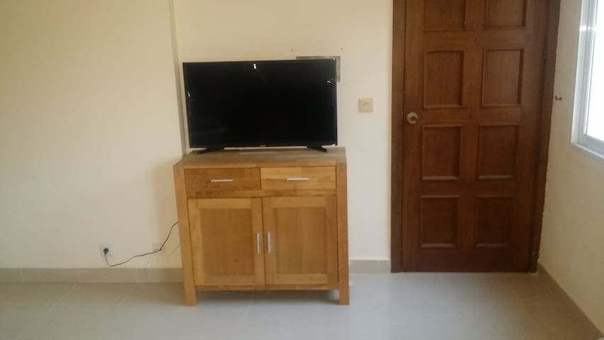 New LCD TV with cable channels