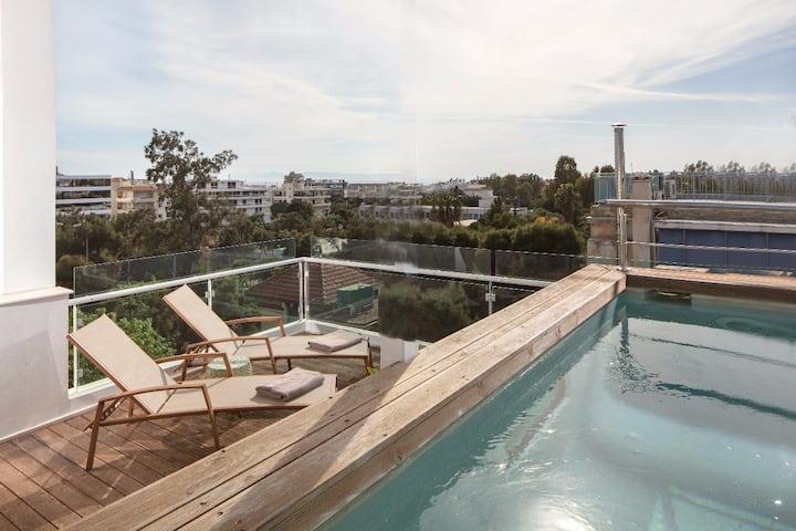 Saffron : a Penthouse Maisonette with Private Pool