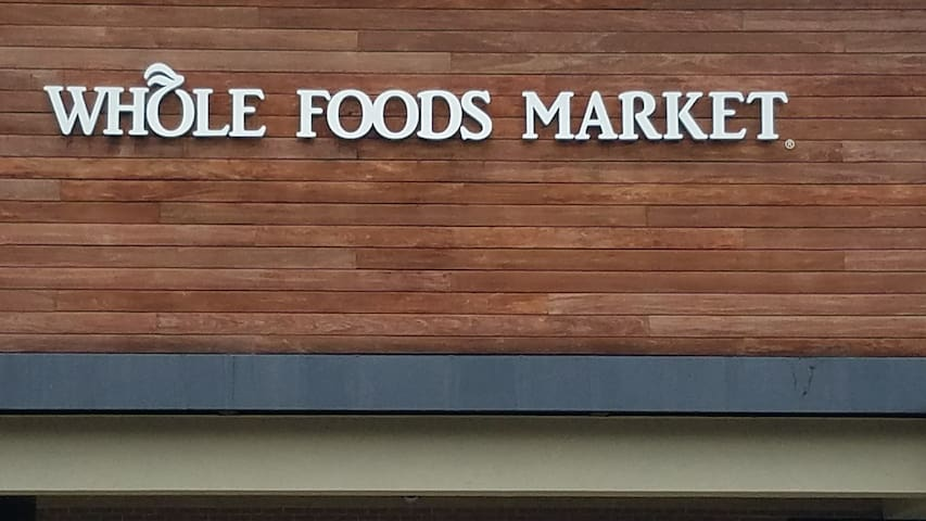 Whole Foods, only 1.3 m from the Hut?