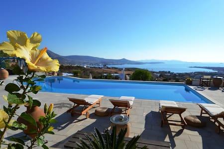 Seaview Villa with swimming pool and tennis court - Paros - Villa