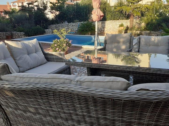 App Blau - Garden & pool apartment