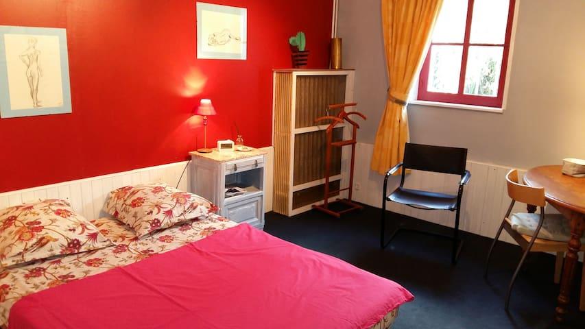 Chambre et SDB privées, calme de la campagne - Walincourt-Selvigny - Haus