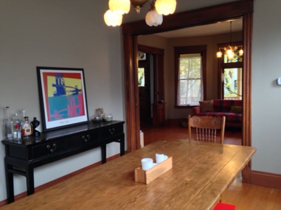 Dining Room with plenty off living room and kitchen space for 6 people.