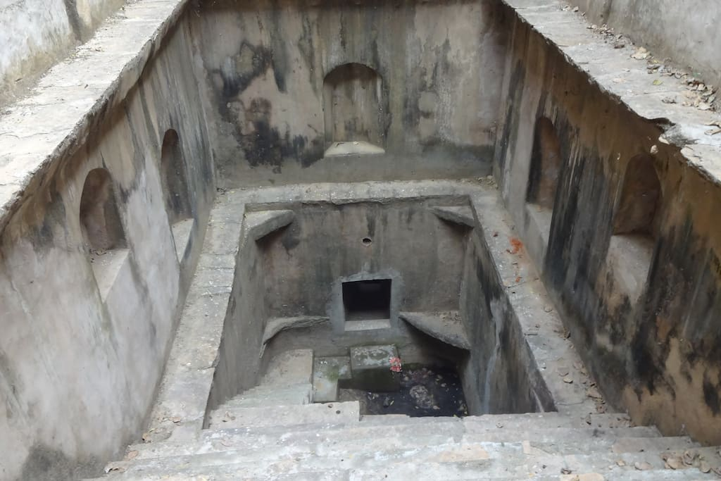 Old step well in the house